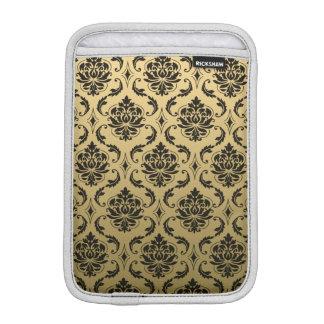 Gold and Black Classic Damask iPad Mini Sleeve