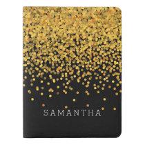 Gold and Black Confetti Extra Large Moleskine Notebook