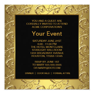 Gold and Black Corporate Party Event Card