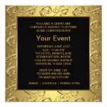 Gold and Black Corporate Party Event Invite