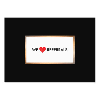 Gold and Black Customer Appreciation Referral Large Business Card