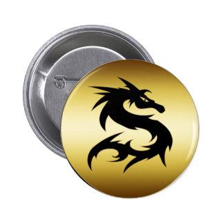 GOLD AND BLACK DRAGON PIN