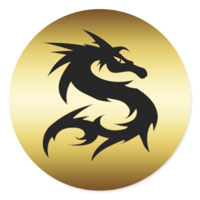 GOLD AND BLACK DRAGON sticker $ 5.95