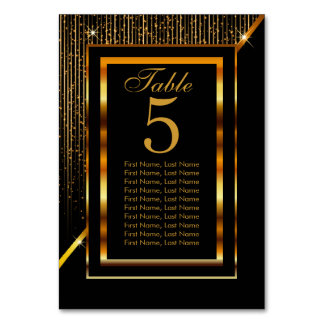 Gold and Black Elegance Card