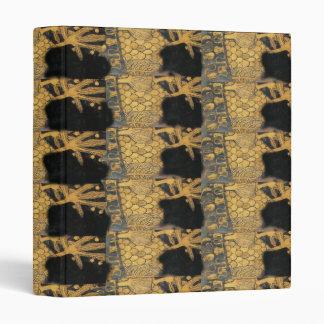 Gold and Black Elegant Art Nouveau Binder