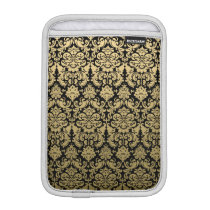 Gold and Black Elegant Damask Pattern iPad Mini Sleeve