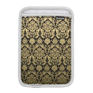 Gold and Black Elegant Damask Pattern iPad Mini Sleeve
