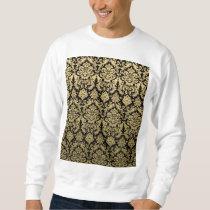 Gold and Black Elegant Damask Pattern Sweatshirt