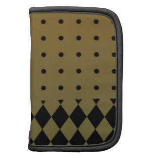 Gold and black elegant Dots and Diamonds Folio Planners