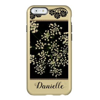 Gold and black floral design cell phone case