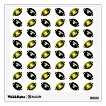 Gold and Black Football Pattern Wall Decal
