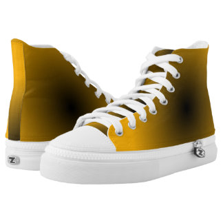 Gold and Black GAX Hi-Top Printed Shoes