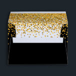 """Gold and Black Glam Confetti Dots Envelope<br><div class=""""desc"""">Gold and Black Glam Confetti Dots</div>"""