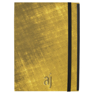 gold and black grungy tweed iPad pro case