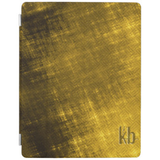 gold and black grungy tweed iPad smart cover