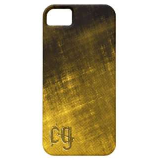 gold and black grungy tweed iPhone SE/5/5s case