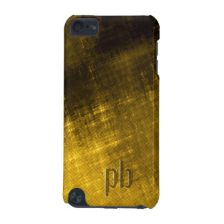 gold and black grungy tweed iPod touch (5th generation) cover