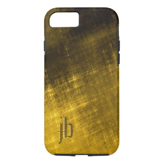 gold and black grungy tweed look iPhone 7 case