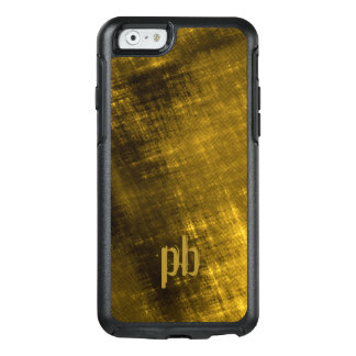 gold and black grungy tweed OtterBox iPhone 6/6s case