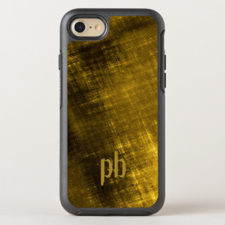 gold and black grungy tweed OtterBox symmetry iPhone 7 case
