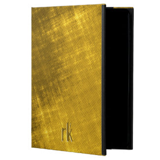 gold and black grungy tweed powis iPad air 2 case