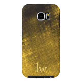 gold and black grungy tweed samsung galaxy s6 case