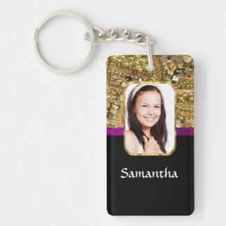 Gold and black keychain