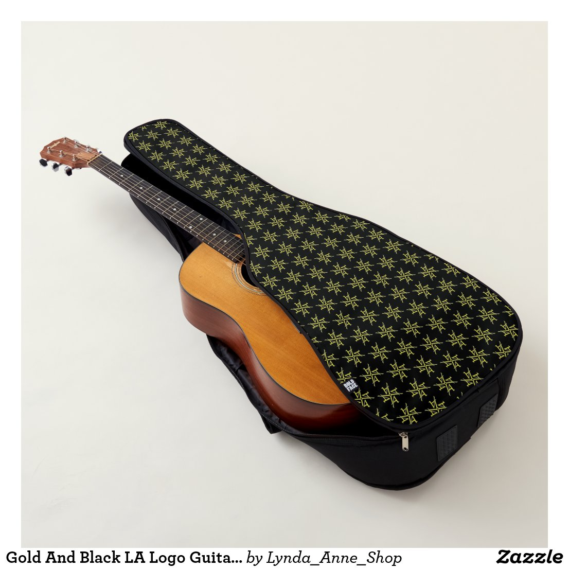 Gold And Black LA Logo Guitar Case