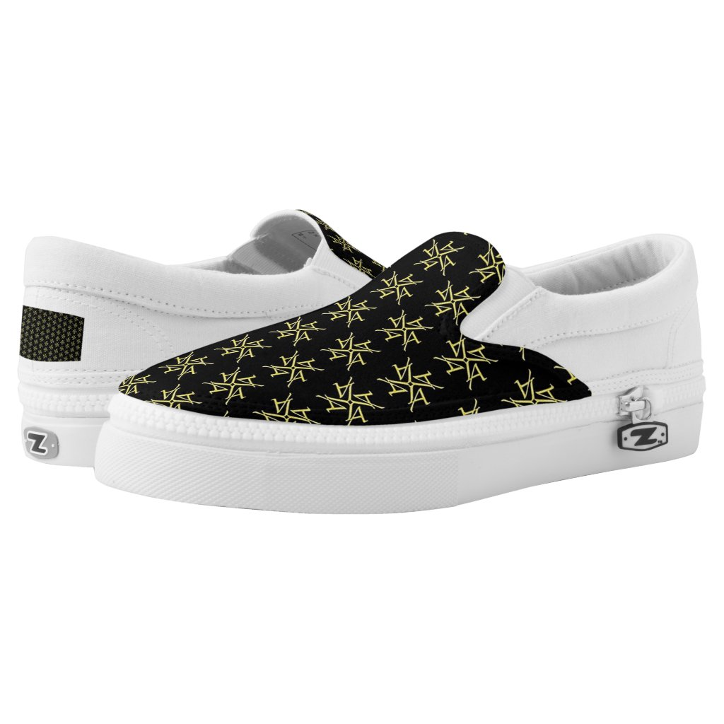 Gold And Black LA Logo Slip On