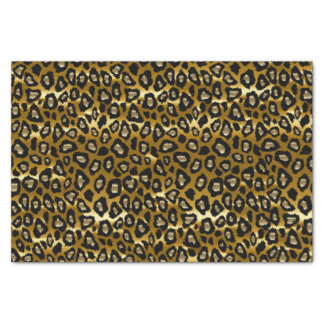 Gold and Black Leopard Animal Print Tissue Paper
