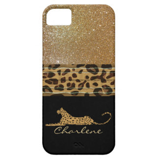 Gold and Black Leopard Custom iPhone 5S Case iPhone 5 Case