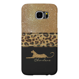 Gold and Black Leopard Custom Samsung S6 Case