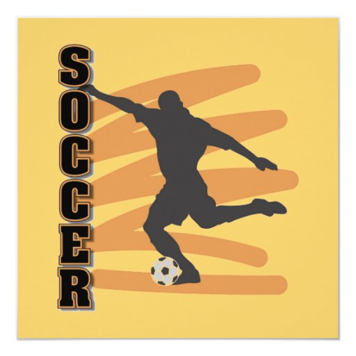 Gold and Black Male Soccer Player T shirts Invitation