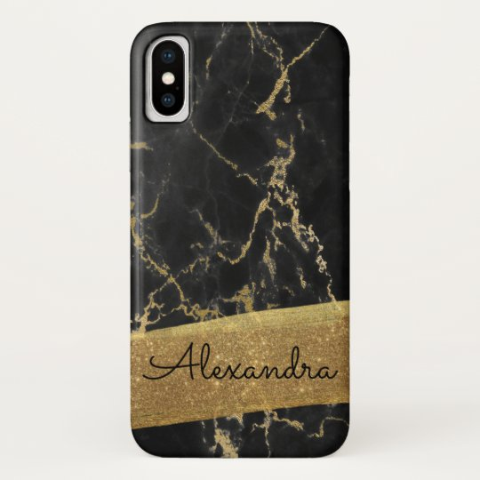 c4f9d1bdaa7f0c Gold and Black Marble with Gold Foil and Glitter Case-Mate iPhone Case