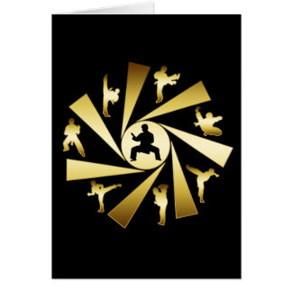 GOLD AND BLACK MARTIAL ARTS GREETING CARD