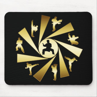 GOLD AND BLACK MARTIAL ARTS MOUSE PAD