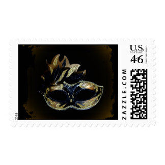 Gold and Black Mask Postage