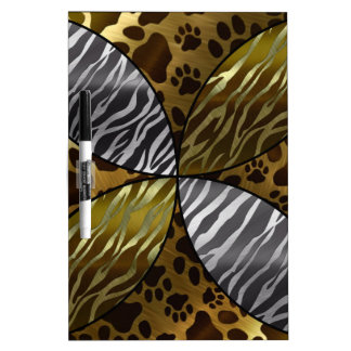 Gold and Black Metal Texture Animal,Print Dry-Erase Whiteboards