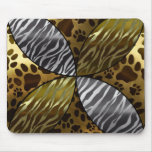 Gold and Black Metal Texture Animal,Print Mouse Pad