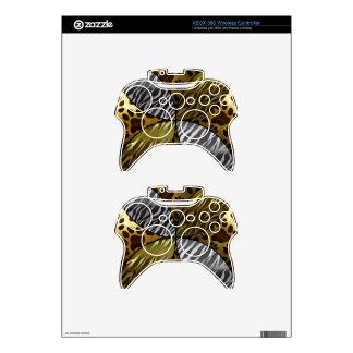 Gold and Black Metal Texture Animal,Print Xbox 360 Controller Skin
