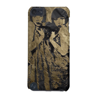 Gold and Black Metal Texture iPod Touch 5G Cover