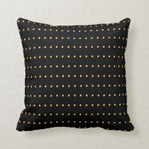 Gold and Black Modern Polka Dots Pattern Throw Pillow