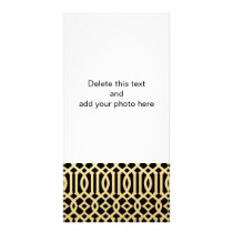 Gold and Black Modern Trellis Pattern Card