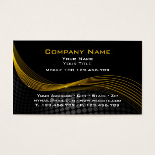 Electronic business cards templates zazzle gold and black mouse business card flashek Gallery