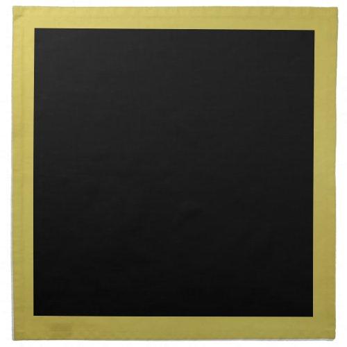 Gold and Black Napkins