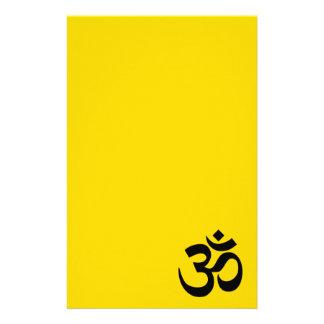 Gold and Black Om Symbol Stationery
