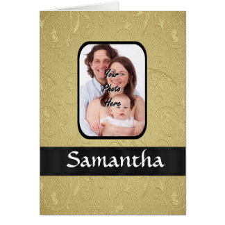 Gold and black photo template card