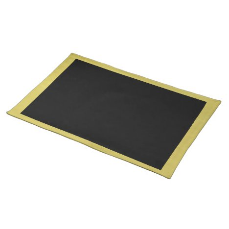 Gold and Black Placemat