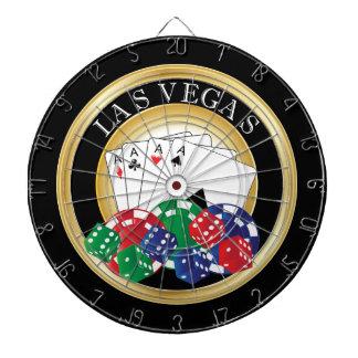 Gold and Black Poker Dart Board
