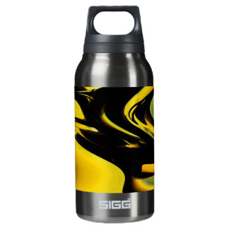 Gold And Black Pop Art Insulated Water Bottle